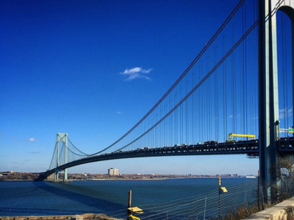View from Fort Wadsworth of our beautiful Verrazano Narrows Bridge
