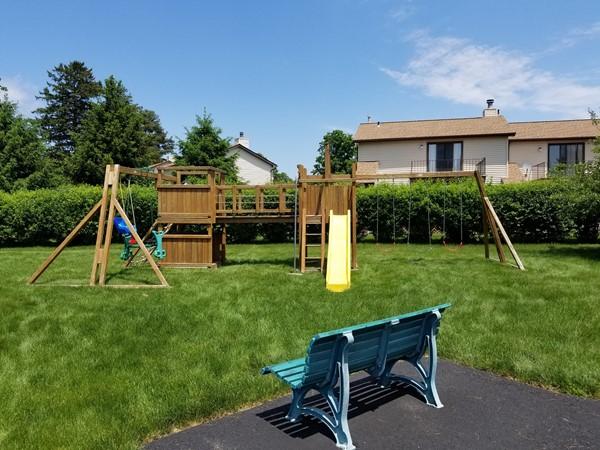 Children's playground at Plum Point Condominiums