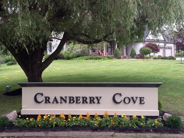 Cranberry Cove Subdivision entrance at Bainbridge Lane and Route 250