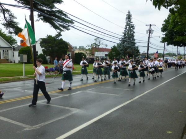4th of July parade between the raindrops!