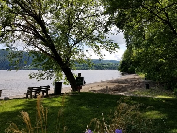 The Hudson River at the Orange County Park at Kowawese Unique Area