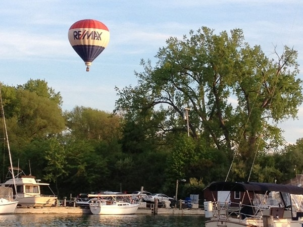 The RE/MAX balloon is a common sight over the Finger Lakes