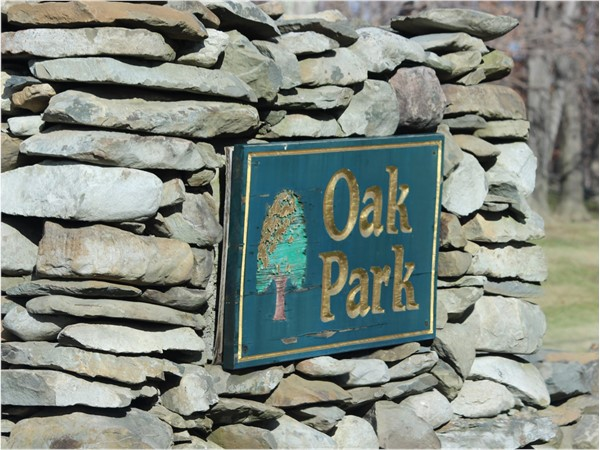 Entrance to Oak Park neighborhood off of Angola Road in Cornwall