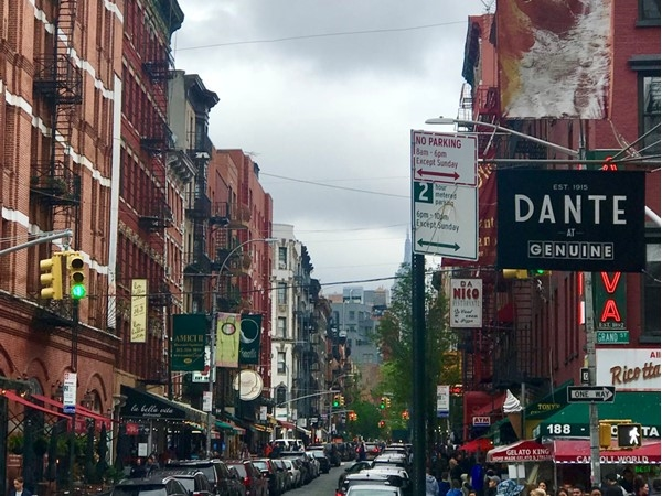 Beautiful view of Little Italy in New York City