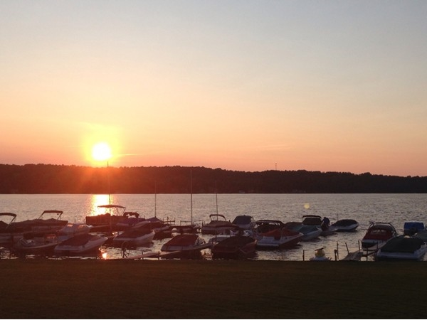 Take in a glorious sunset from the lawn at the Brewster Inn