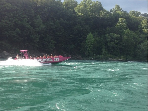 Whirlpool jet boat tour