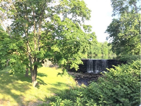 Beautiful day for a walk around the ponds in Monroe. Waterfall on Stage Road