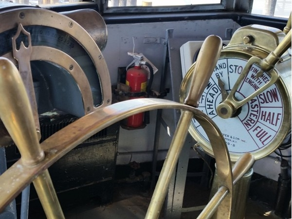 Inside of the historic fire boat
