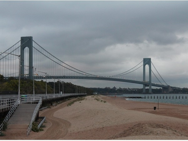 View from The South Fin Restaurant in Staten Island looking at Bay Ridge Brooklyn.