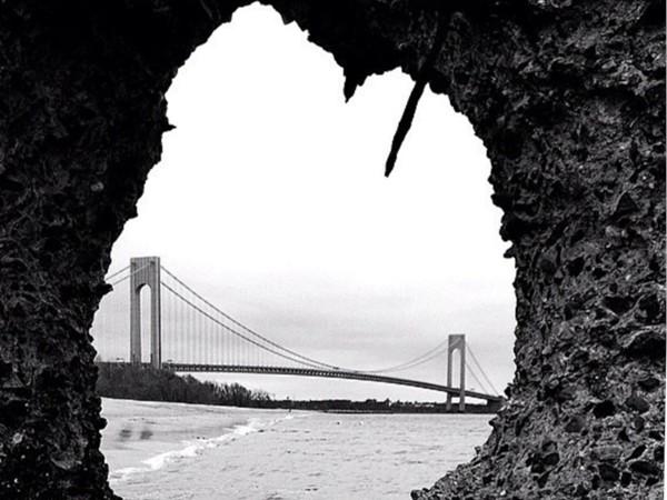 Beautiful Verrazano Bridge. East Shore view on Staten Island