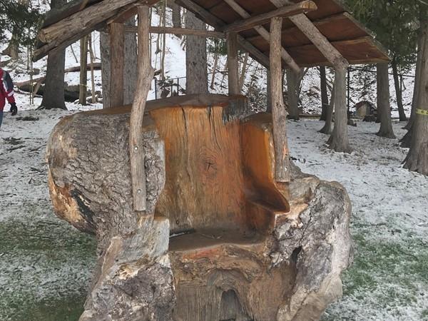 Sit a spell in Powder Mills Park