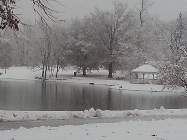Ring's Pond - first snowfall of the season