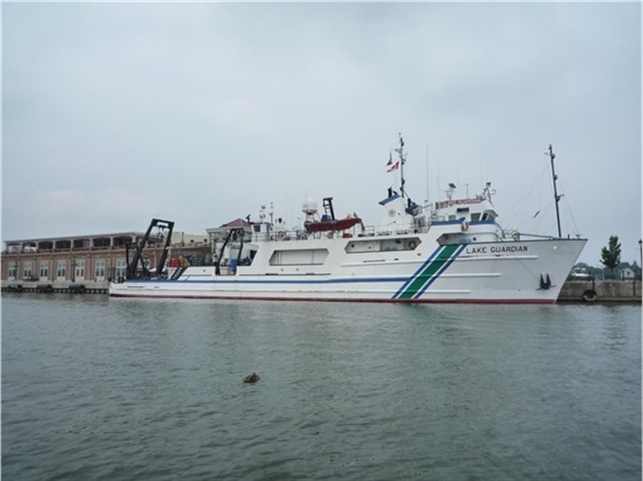 """""""Lake Guardian"""" is the EPA's largest research vessel on the Great Lakes.Out from Apr-Oct."""