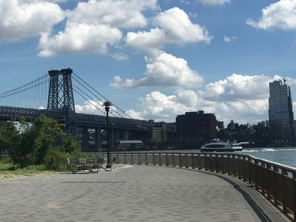 The Williamsburg Bridge from lower East Side