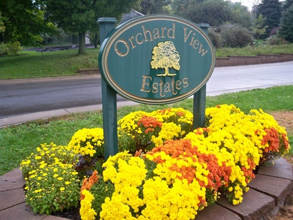 Orchard View Estates is almost directly across from Ginegaw park and Walworth town hall