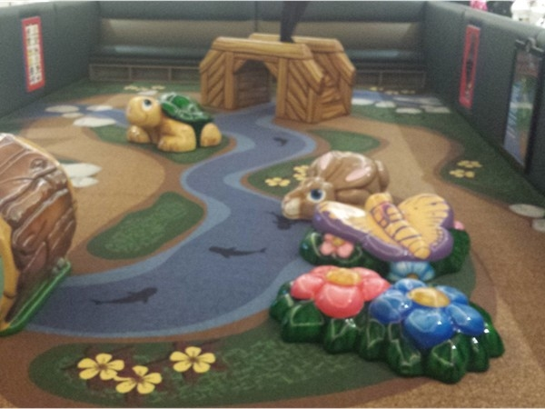 New children's play area being installed in the Boulevard Mall. Located near JC Penney