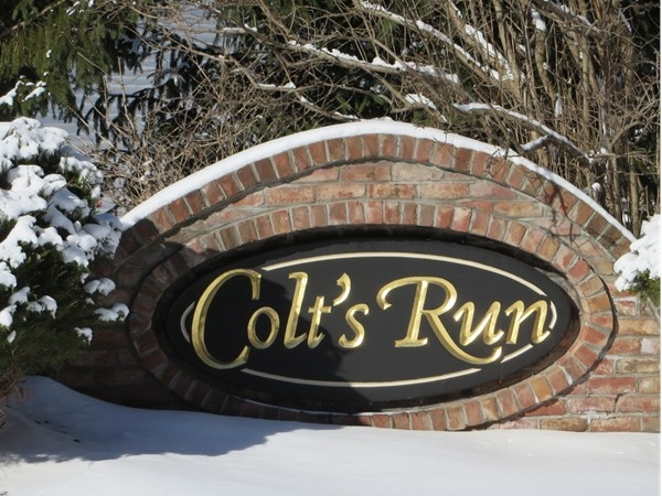 Entrance to Colt's Run Subdivision in Penfield