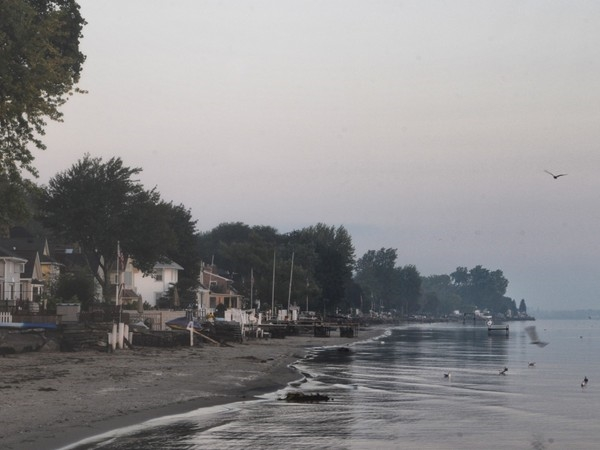 A foggy morning along the Lake Ontario Shore in Greece