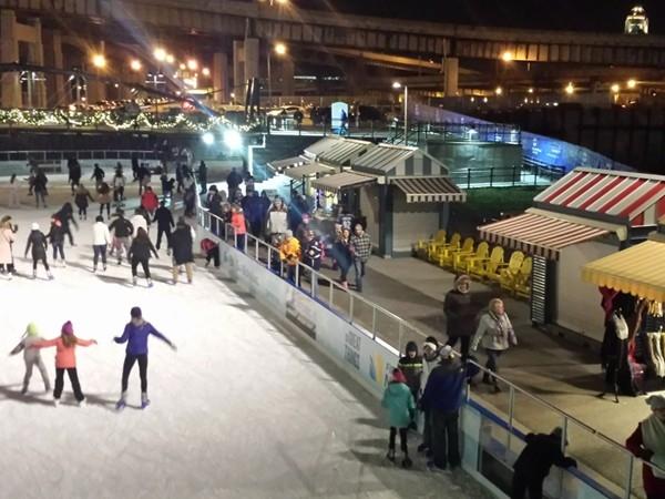Ice Skating at Canalside