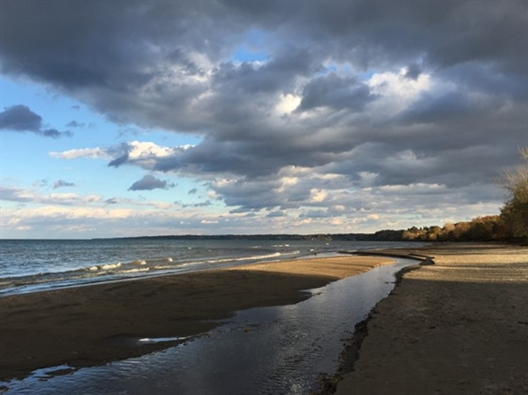 Still a great time of year for walks along the beach of Lake Ontario