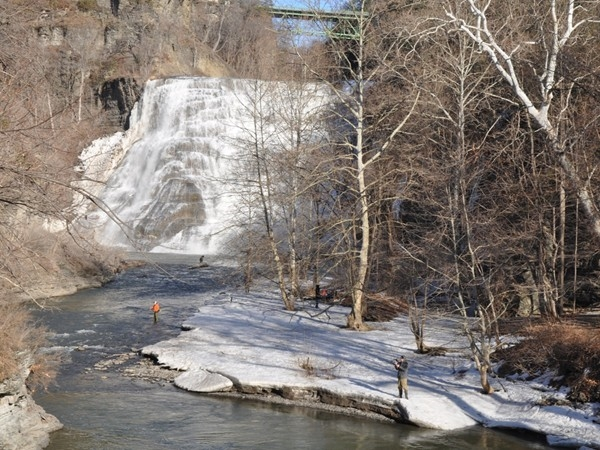 Fishing season opens up in Ithaca!  Fall Creek,  April 1st, 2015
