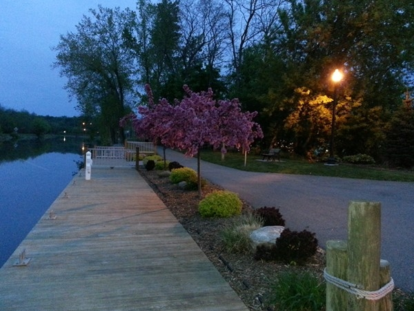 Looking east on Erie Canal in Spencerport on a beautiful May evening