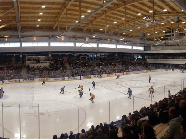 Buffalo Beauts home opener in the Harbor Center, Buffalo NY