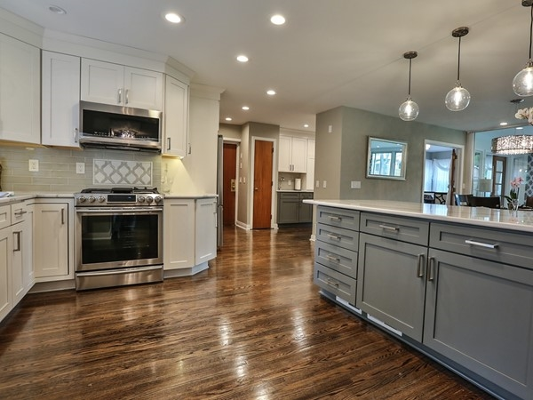 Spectacular kitchen in this renovated 4801 square foot home on an acre lot