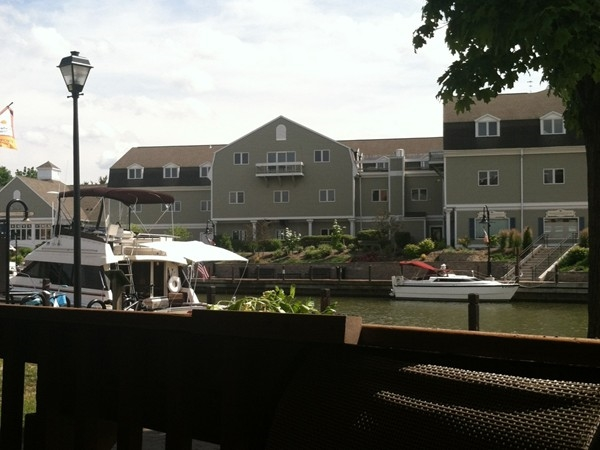 The great view from The Bistro at Towpath Cafe
