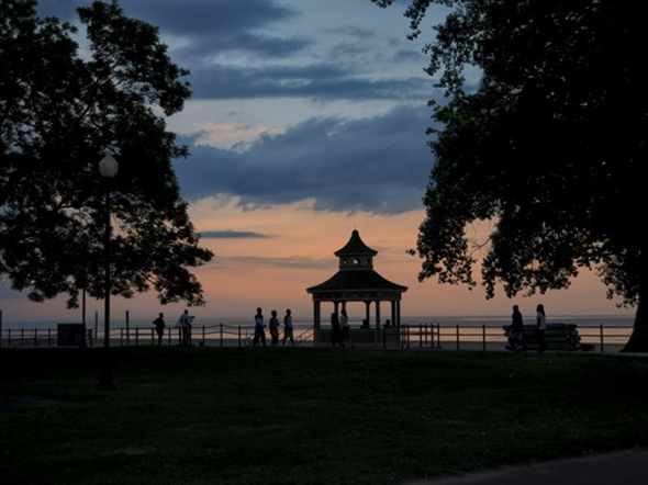 Ontario Beach Park is the perfect spot for sunset walks along Lake Ontario