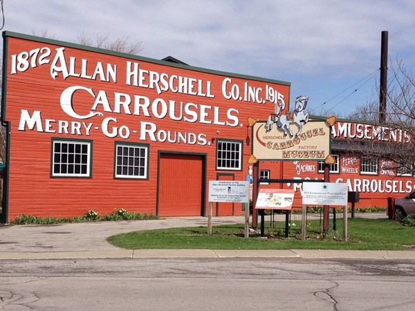 Herschell Carrousel Factory Museum:  an authentic carousel workshop and actual merry go round ride!