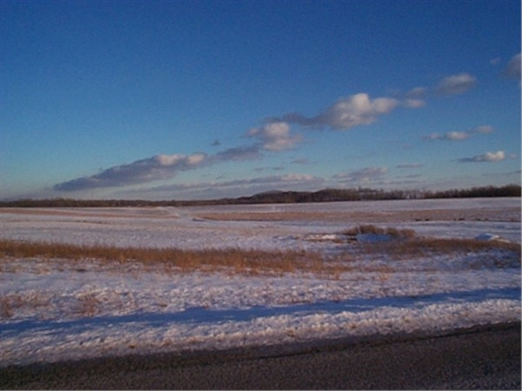 Farm land on a winter day in Penfield on Gloria Drive