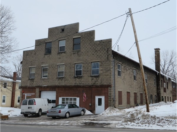 Historic brick building in Honeoye Falls that at one time was the Honeoye Falls Dairy