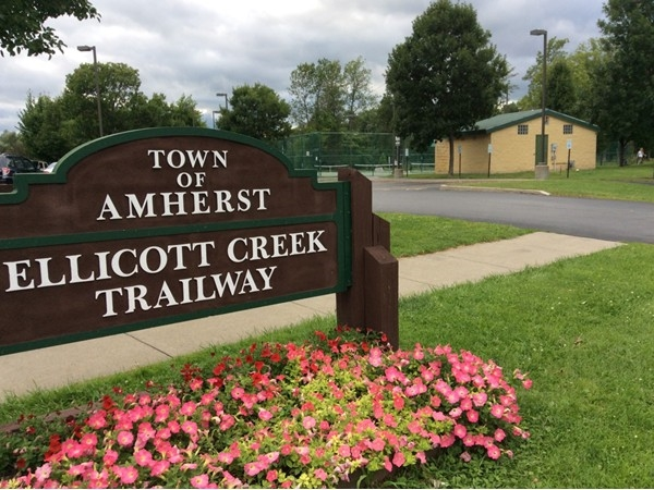 A short walk across the street to access to the Ellicott Creek Trailway