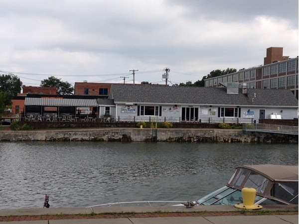 View of the Dockside Restaurant from the Tonawanda side of the Erie Canal!