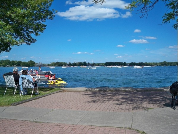 North end of Canandaigua Lake where many boats like to hang out