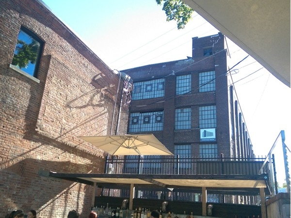 A  view from The Roundhouse Patio on Main Street