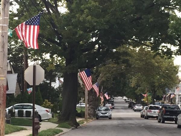 Beautiful patriotic block located in Sunset Hill, Staten Island
