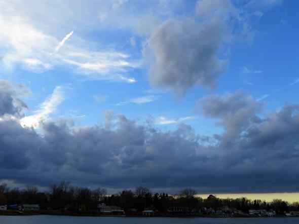 October sky over Port Bay