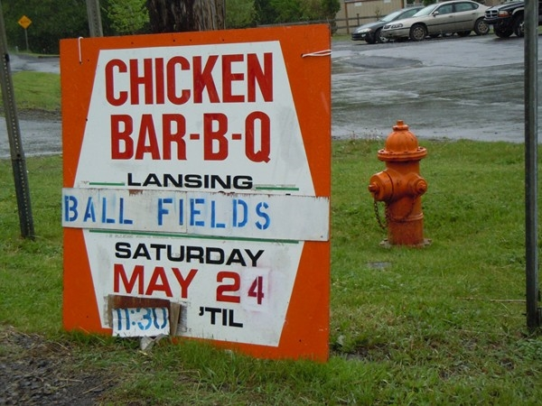 Chicken BBQ at the ball fields
