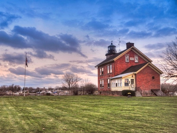 The Charlotte Genesee Lighthouse is just south of the Port of Rochester