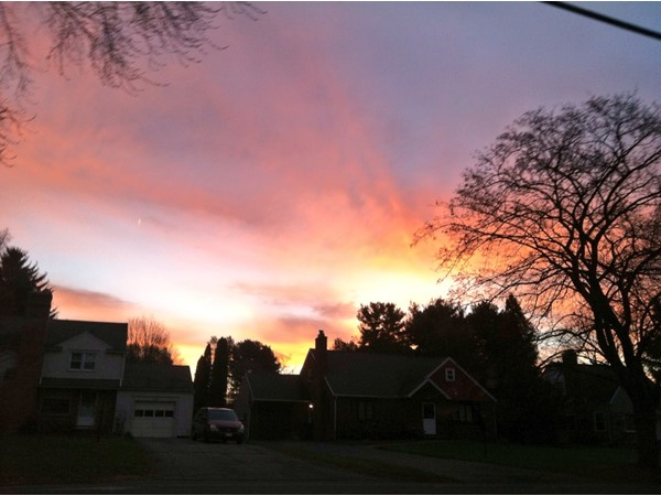 Colorful spring sunrise in Penfield