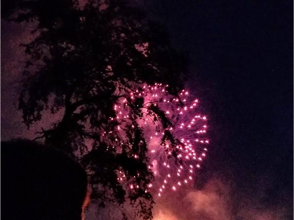 Fireworks over Greenwood Lake July 2018