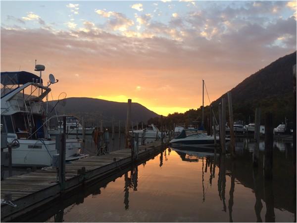 Sunrise over the Corwall Yacht Club