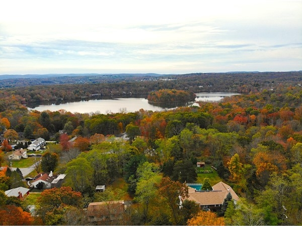 Round Lake from Cromwell Hill Road in Monroe! Fall in the Hudson Valley