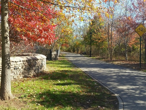 Park in Rossville. Walking, jogging and bicycling