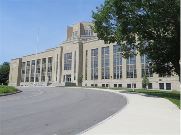 The Charlotte High School, part of the Rochester City School District