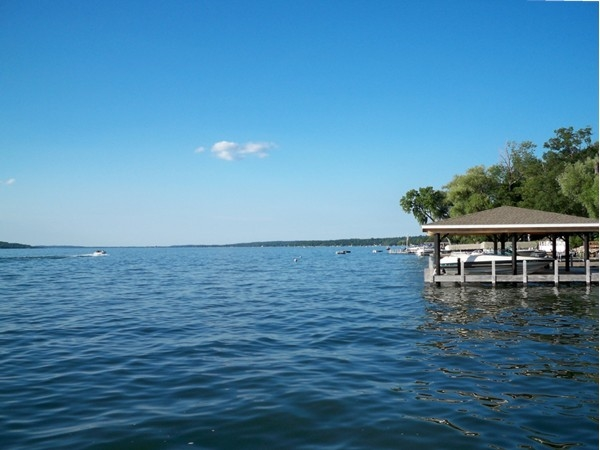 Canandaigua Lake from the eastside looking north