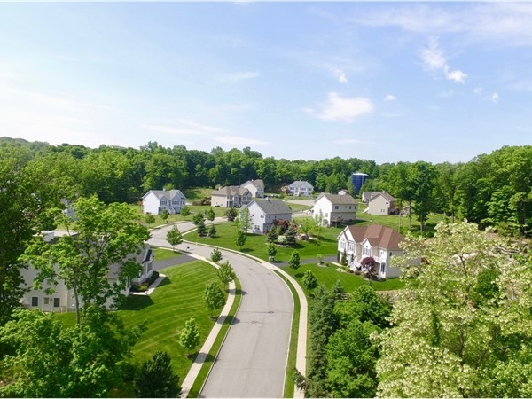 "View from above ""The Estates of Briarcliff"" in Monroe. (Fredrick Drive)"