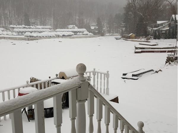 Winter storm on beautiful Greenwood Lake